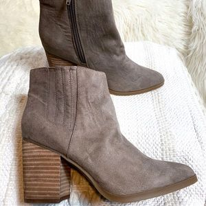 Madden Girl Shhakerr Taupe Pointed Ankle Boots